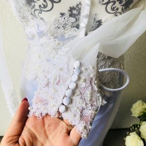 Dresses - 👝 Beautiful laced pearls embroidered wedding 8